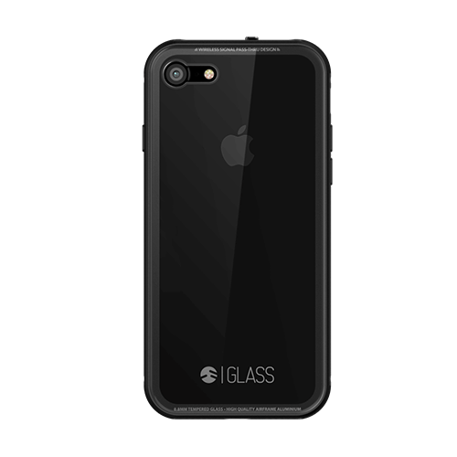 GLASS 01 Case for Apple iPhone 7 Plus Jet Black - ICONS