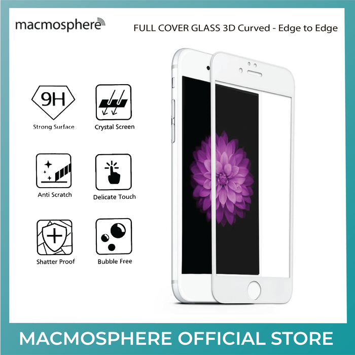 Macmosphere FULL COVER 3D GLASS Screen Protector for Apple iPhone 7 - ICONS