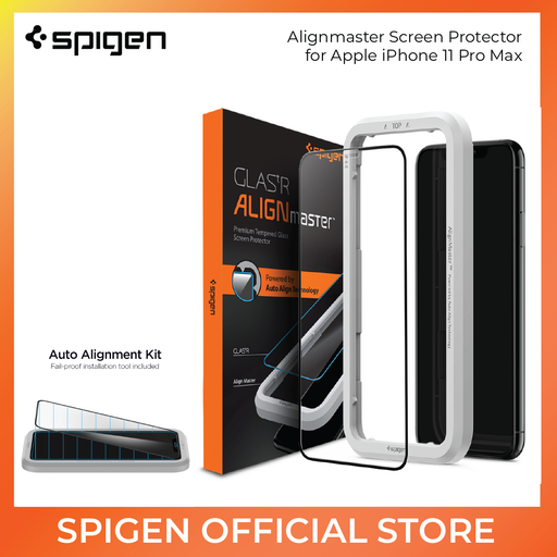 Spigen Glass Protector AlignMaster for iPhone 11 Pro Max - ICONS