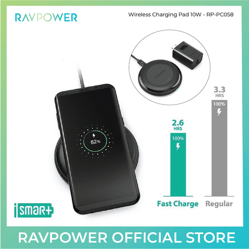 RAVPower Fast Wireless Chargers QI + QC 3.0 Adapter for iPhone 8/8 Plus & X - ICONS