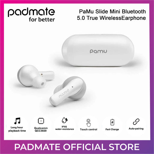 Padmate PaMu Slide Mini Bluetooth 5.0 True Wireless Earphone with Wireless Charging Case