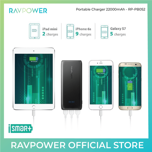 RAVPower Ace Portable Charger 22000mAh - (RP-PB052) - ICONS