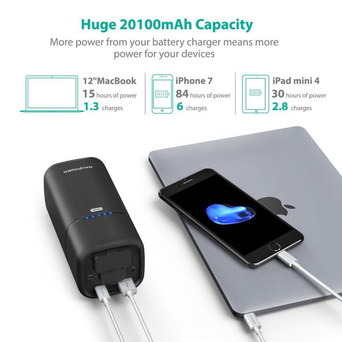 AC Outlet Power Bank - 20100mAh (RP-PB054) - ICONS