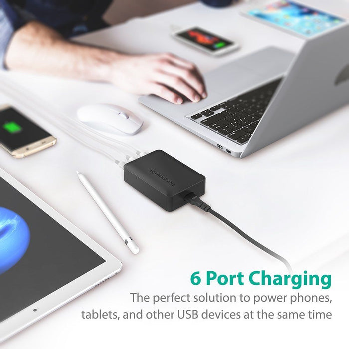 RAVPower 60W 6-Port Charging Station - RP-PC029 - ICONS