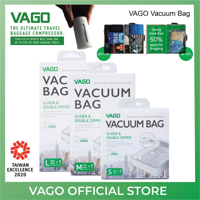 VAGO Vacuum Bag for Travel Compressor