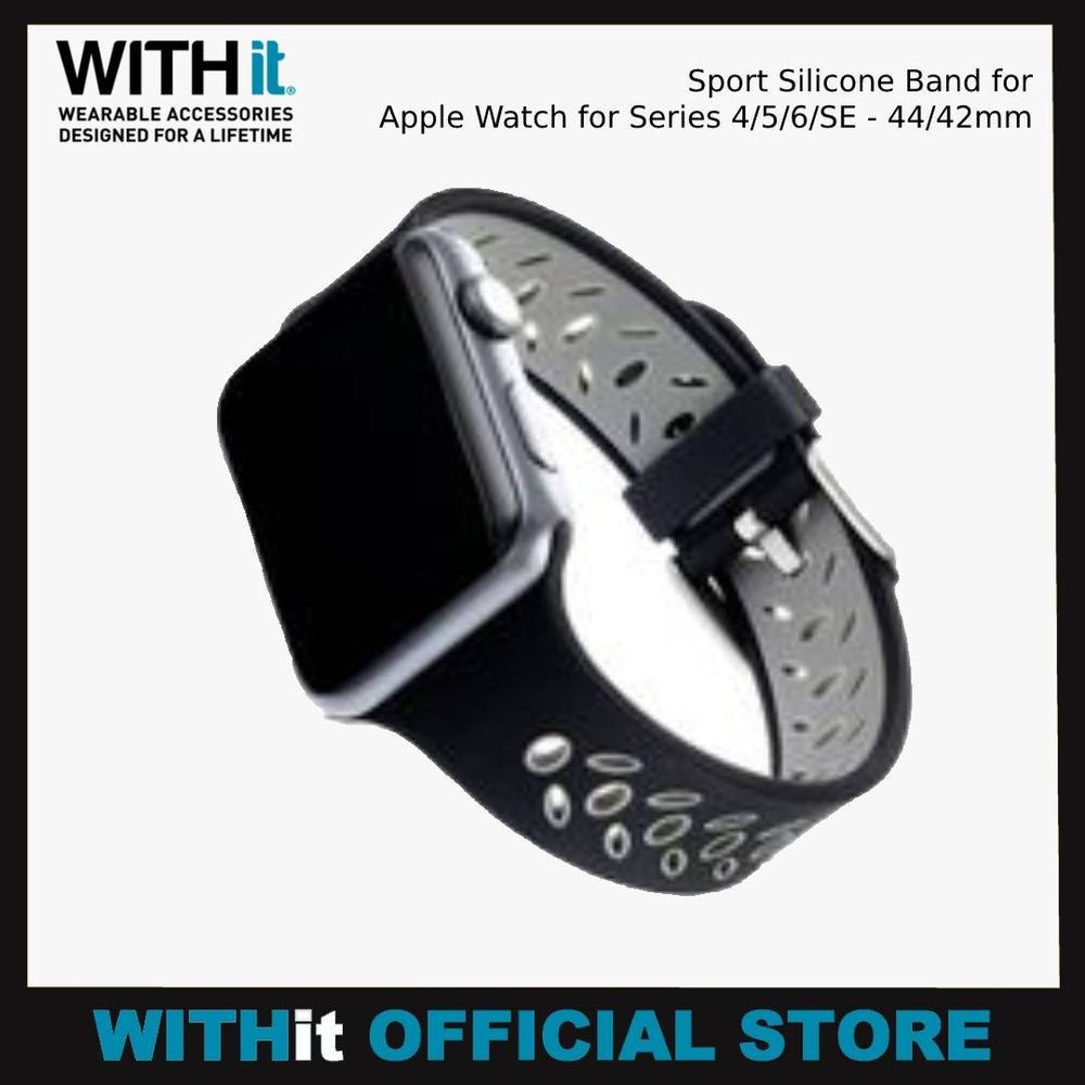WITHit Sport Silicone Band for Apple Watch for Series 4/5/6/SE - 44/42mm