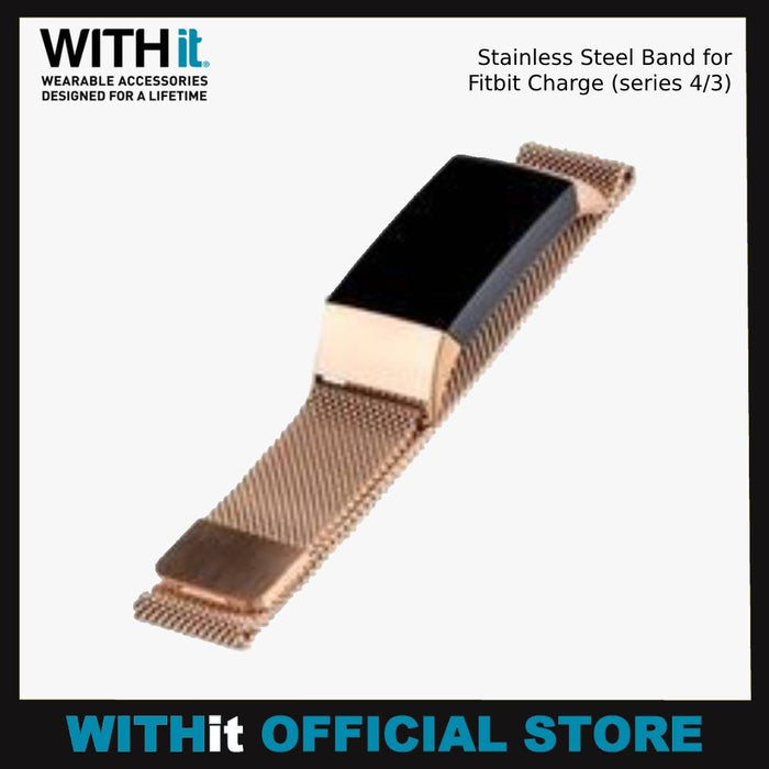 WITHit Stainless Steel Band for Fitbit Charge (series 4/3)