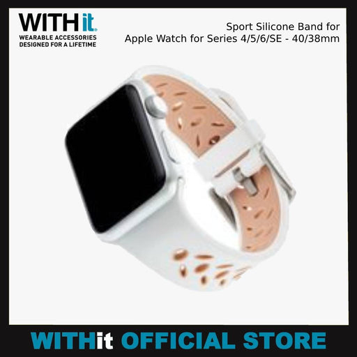 WITHit Sport Silicone Band for Apple Watch for Series 4/5/6/SE - 40/38mm