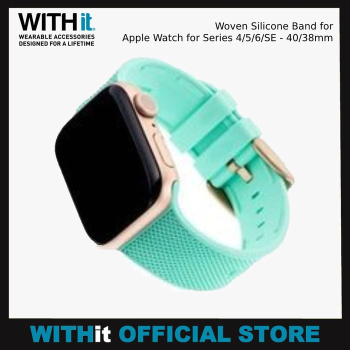 WITHit Woven Silicone Band for Apple Watch for Series 4/5/6/SE - 40/38mm