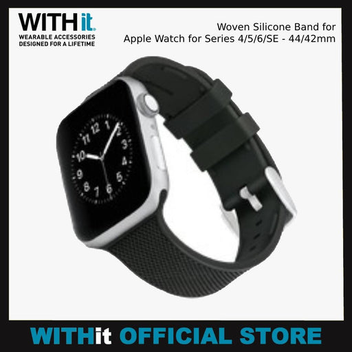 WITHit Woven Silicone Band for Apple Watch for Series 4/5/6/SE - 44/42mm