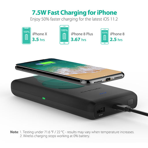Wireless Portable Charger (Wireless Power Bank) - 10400 mAh (RP-PB080) - ICONS