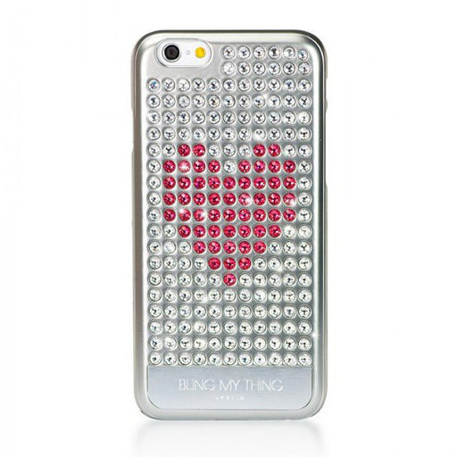 Extravaganza Case for iPhone 6/6S - Heart on Silver - ICONS