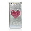 Extravaganza Case for iPhone 6/6S - Heart on Silver