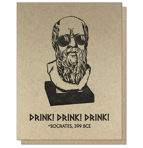 Socrates - Letterpress Greeting Card Unphilosophisticated Series by Guttersnipe Press
