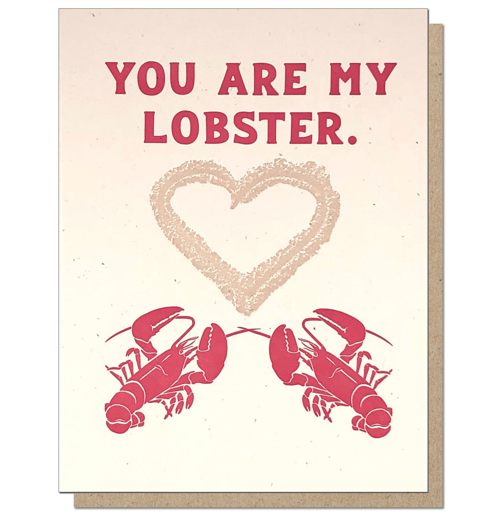 You Are My Lobster - Romantic Letterpress Card