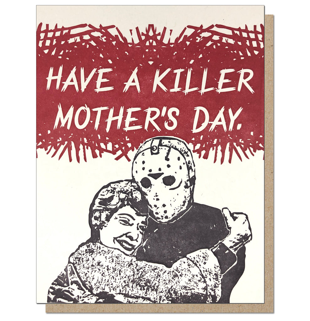 Killer Mother's Day - 80s Horror Movie Mothers Day Letterpress Greeting Card