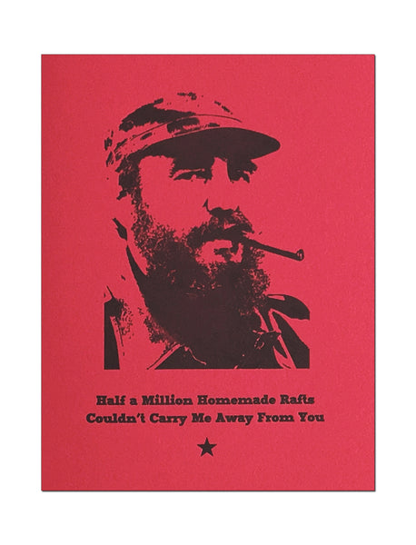 Castro Rafts Letterpress Romantic Card