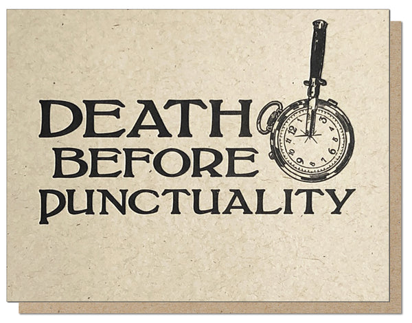 Death Before Punctuality