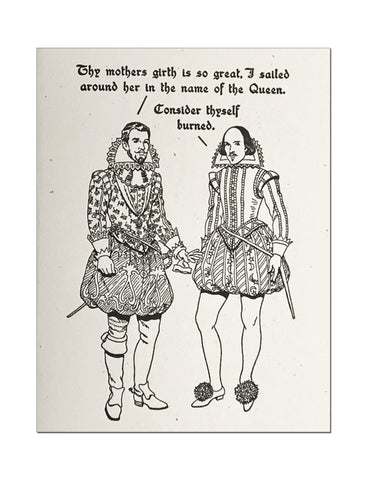 Britches & Hose: Thy Mothers Girth Letterpress Card