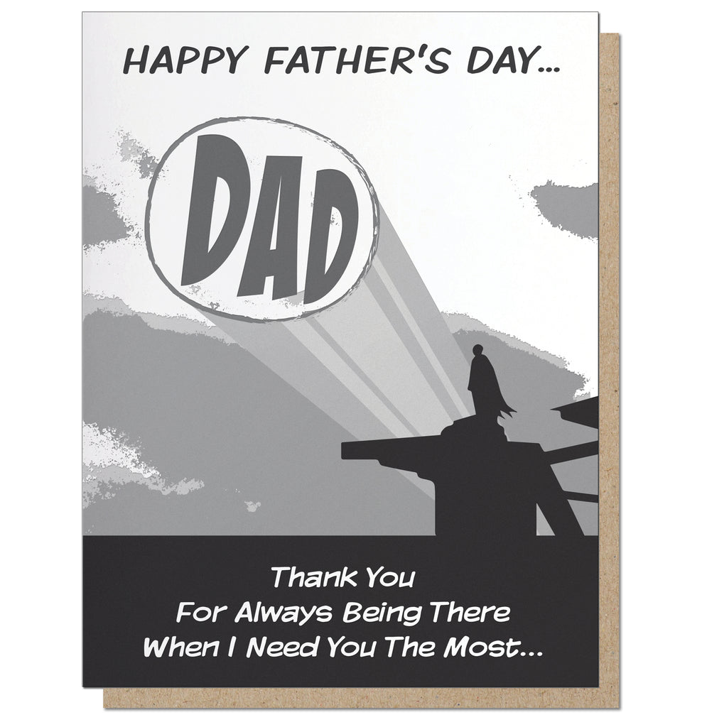 Batdad. Superhero Father's Day Card.