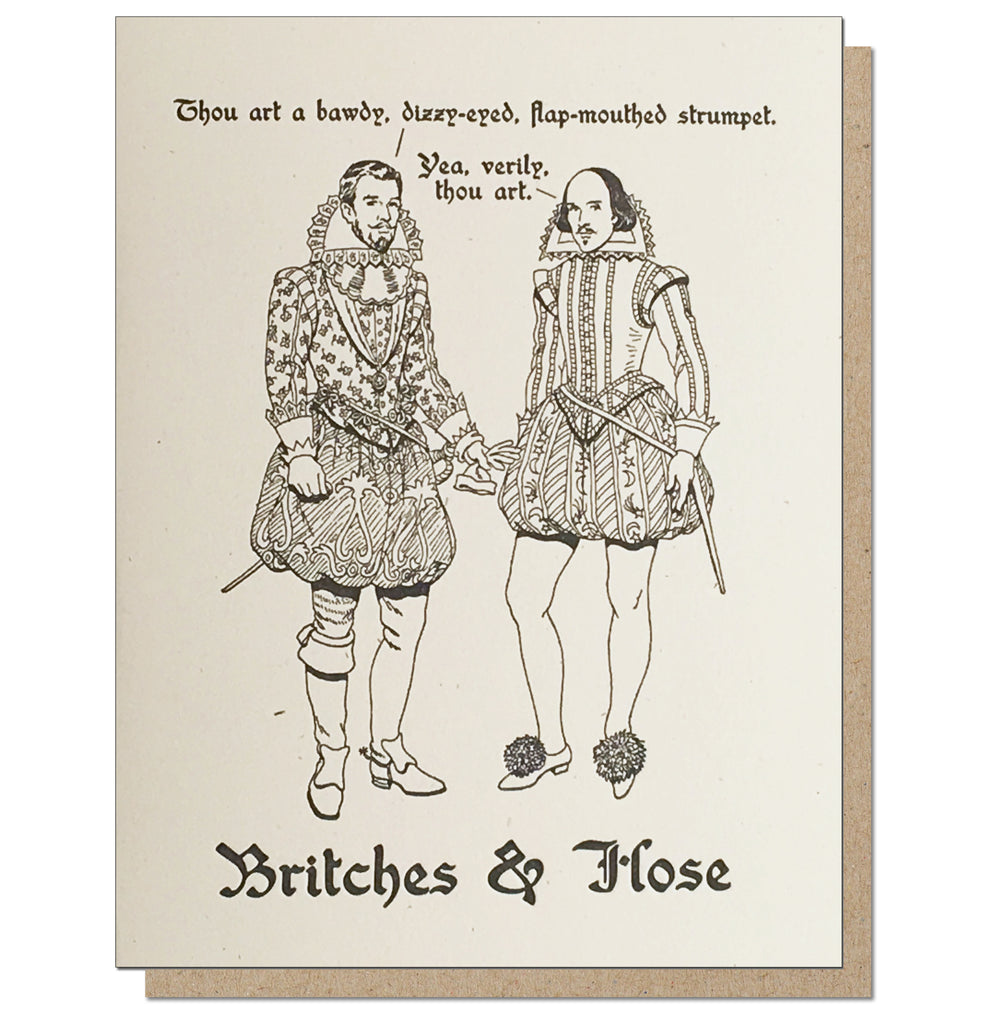 Britches & Hose. Series Original. Letterpress Greeting Card.