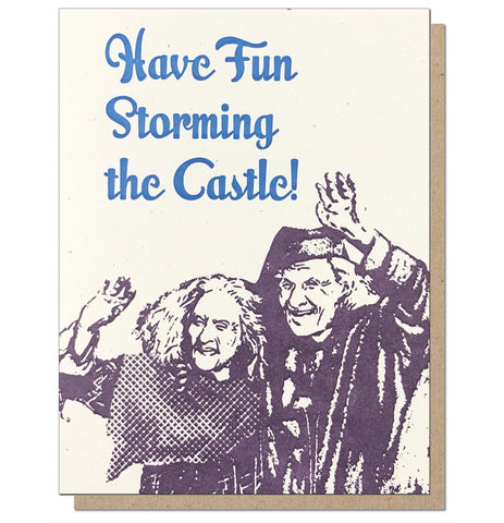 Storming the Castle Letterpress Greeting Card