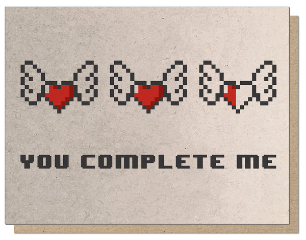 You Complete Me 2.0 Letterpress Romantic Card