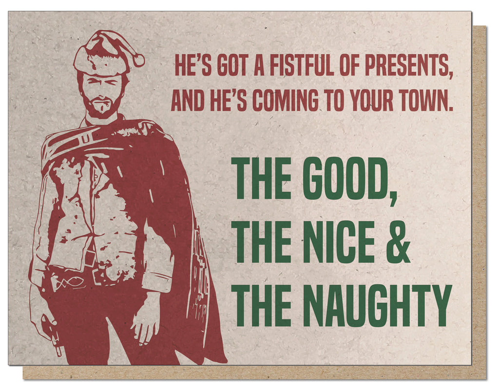 Fistful of Presents. Spaghetti Western Holiday Card.