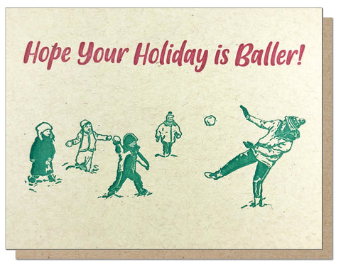 Holiday Baller Card