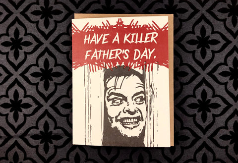 Killer Father's Day - Funny Father's Day Horror Movie Card