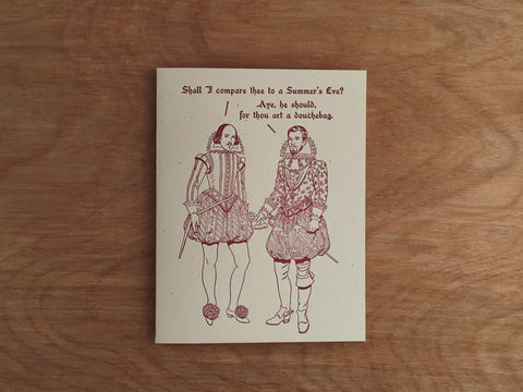 Britches & Hose: A Summers Eve Letterpress Card