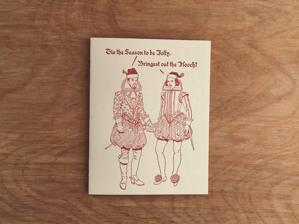 Britches & Hose: Holiday Hooch Letterpress Card