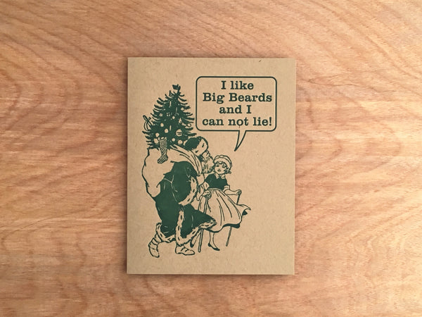 Big Beards. Letterpress Holiday Card.