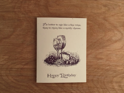 Age Like Fine Wine Birthday Card