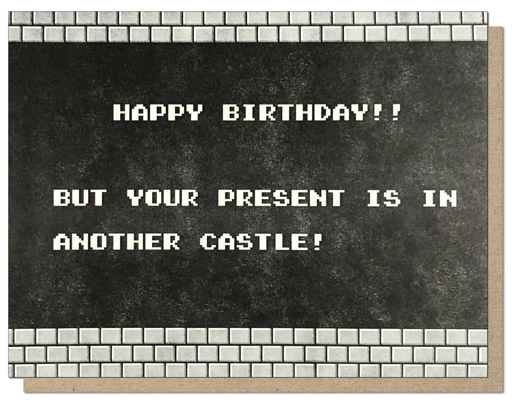 Classic Mario Birthday Card