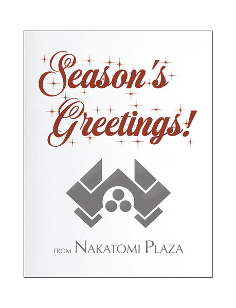 Die Hard Letterpress Holiday Card