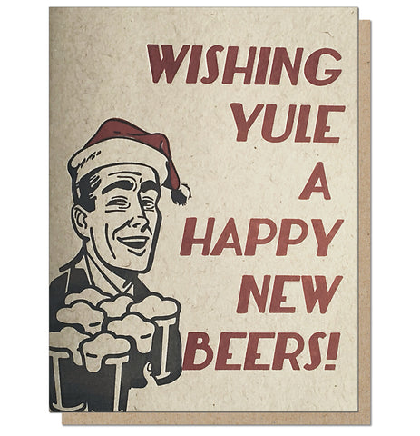 Happy New Beers! Letterpress Holiday and New Year's.