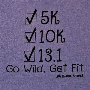 Achievements 13.1, 10k, 5k - Chango Fitness Short Sleeve Shirt