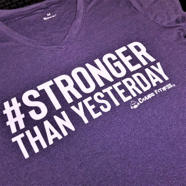 Stronger Than Yesterday - Chango Fitness Short Sleeve Shirt