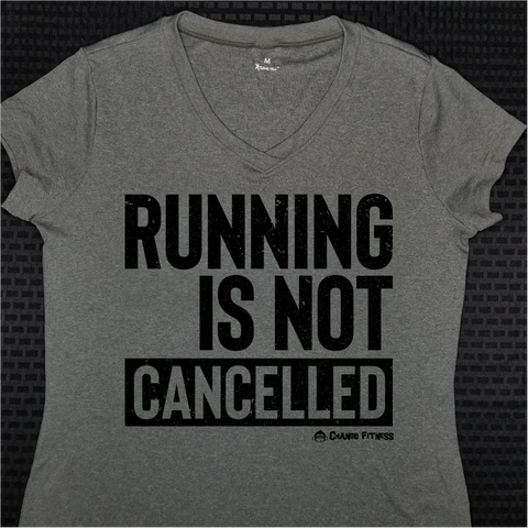 Running Is NOT Cancelled - Chango Fitness Short Sleeve Shirt