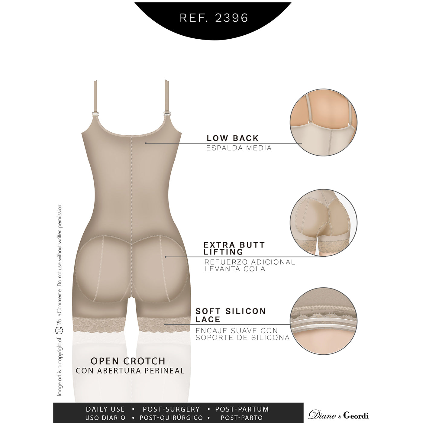 Diane & Geordi: 2396 - Women's Liposuction Bodyshaper - Showmee Store