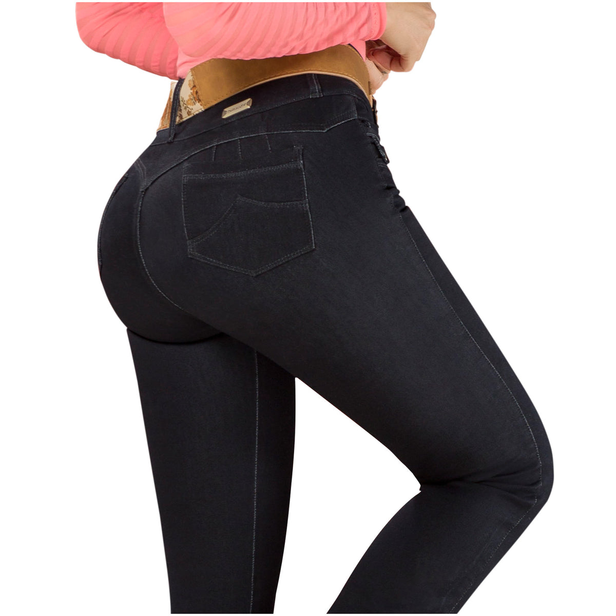 Draxy Women Colombian Sexy High Waisted Bell Bottom Butt Lifting Jeans