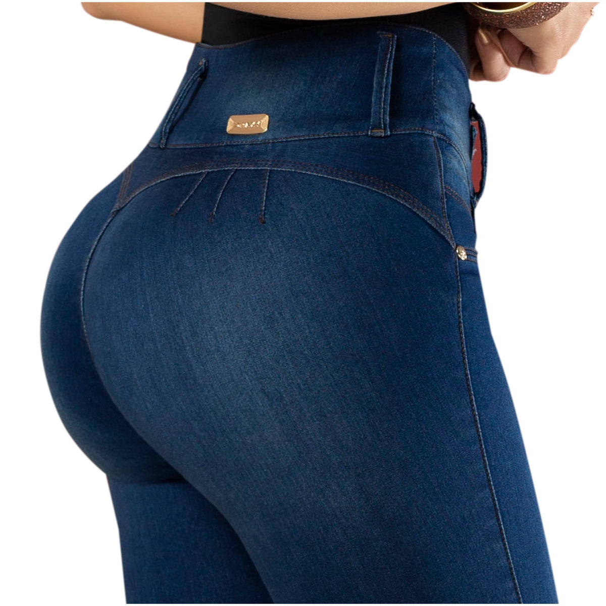 Draxy Women Colombian Fashion Ankle Wrap Butt lifting Wonder Shaping Jeans