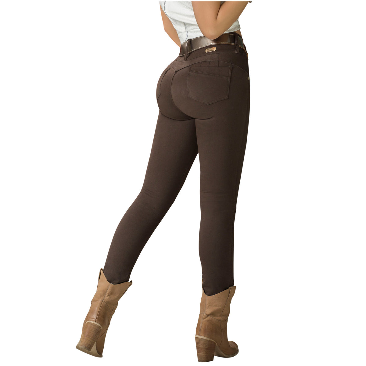 Draxy Women Colombian Sexy Mid Rise Flared Bell Bottom Jeans