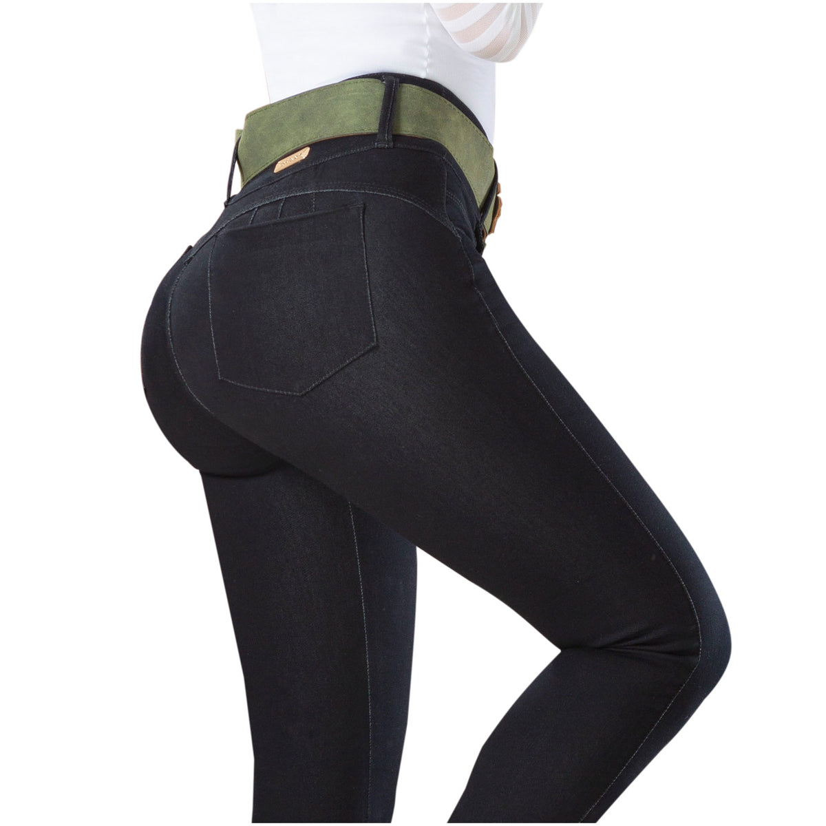 Draxy Women High waisted Butt lifter Mid Rise Skinny Jeans