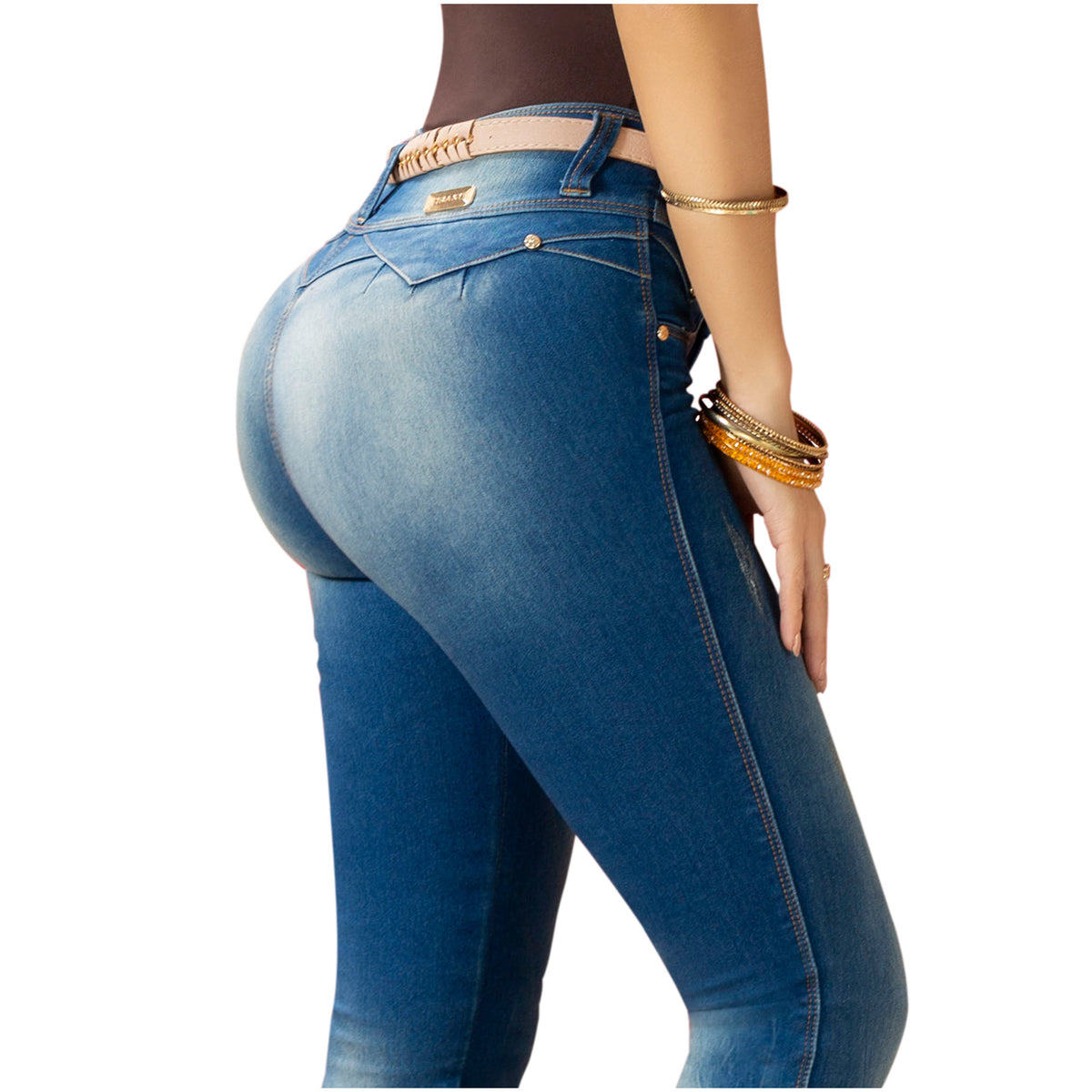 Draxy Women Colombian Shaping Butt lifting Butt Jeans for Women