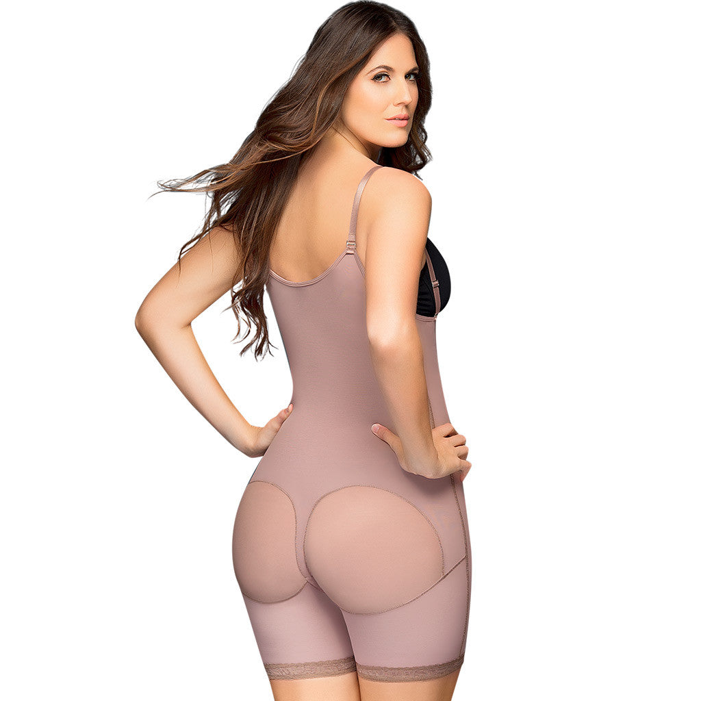 D'Prada Shapewear: 48 - Braless Mid Thigh Shaper - Showmee Store