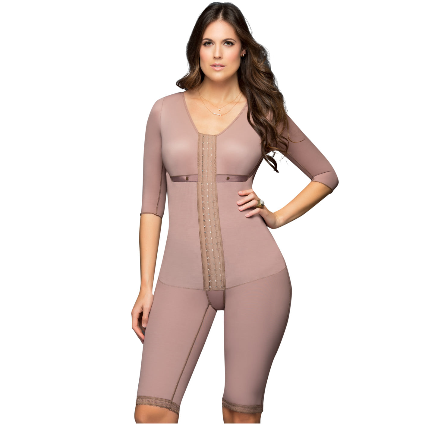 Fajas DPrada 103 Full Body Shaper w Bra and Sleeves Fajas Colombianas