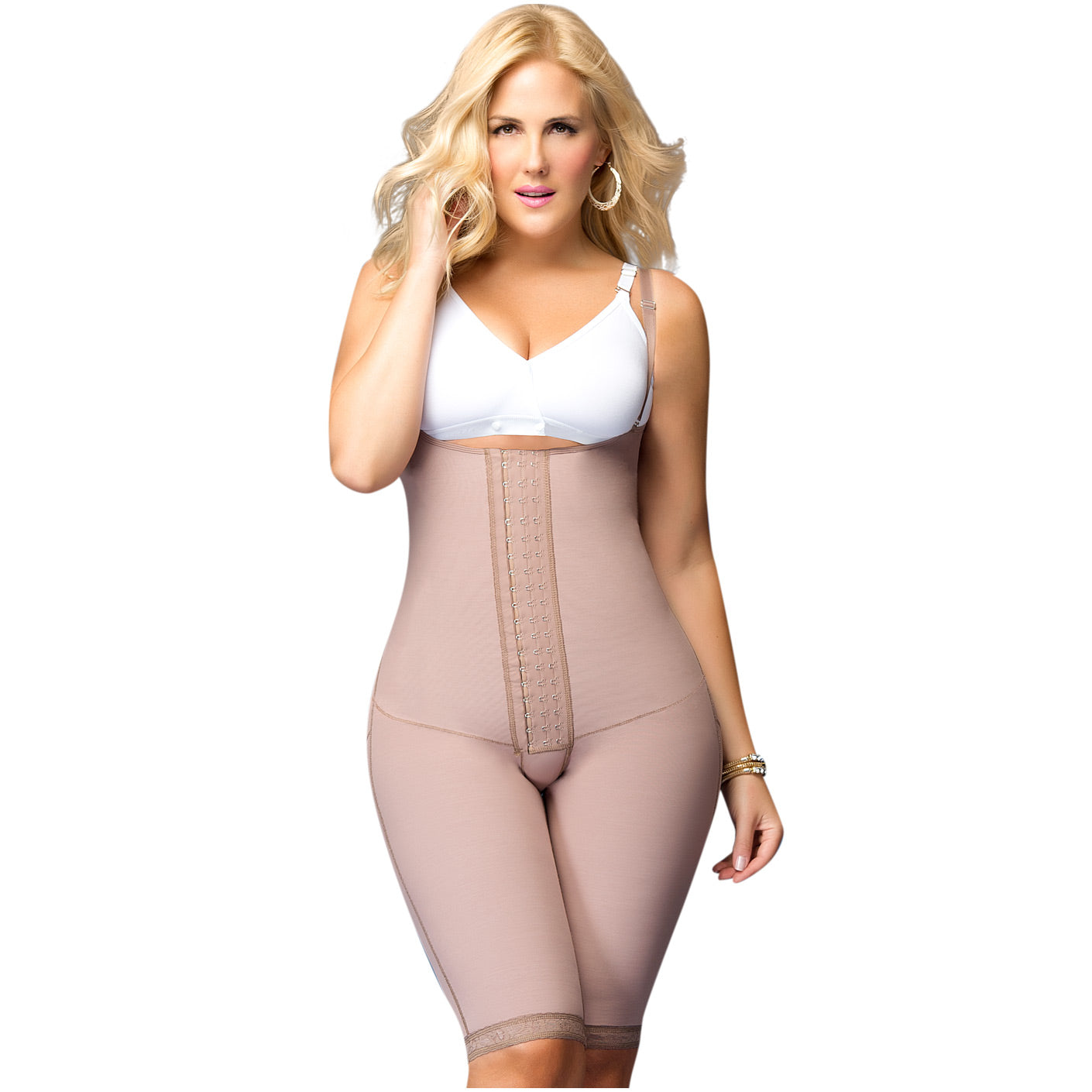 D'Prada Shapewear: 105 - Removable Straps Long Faja - Showmee Store