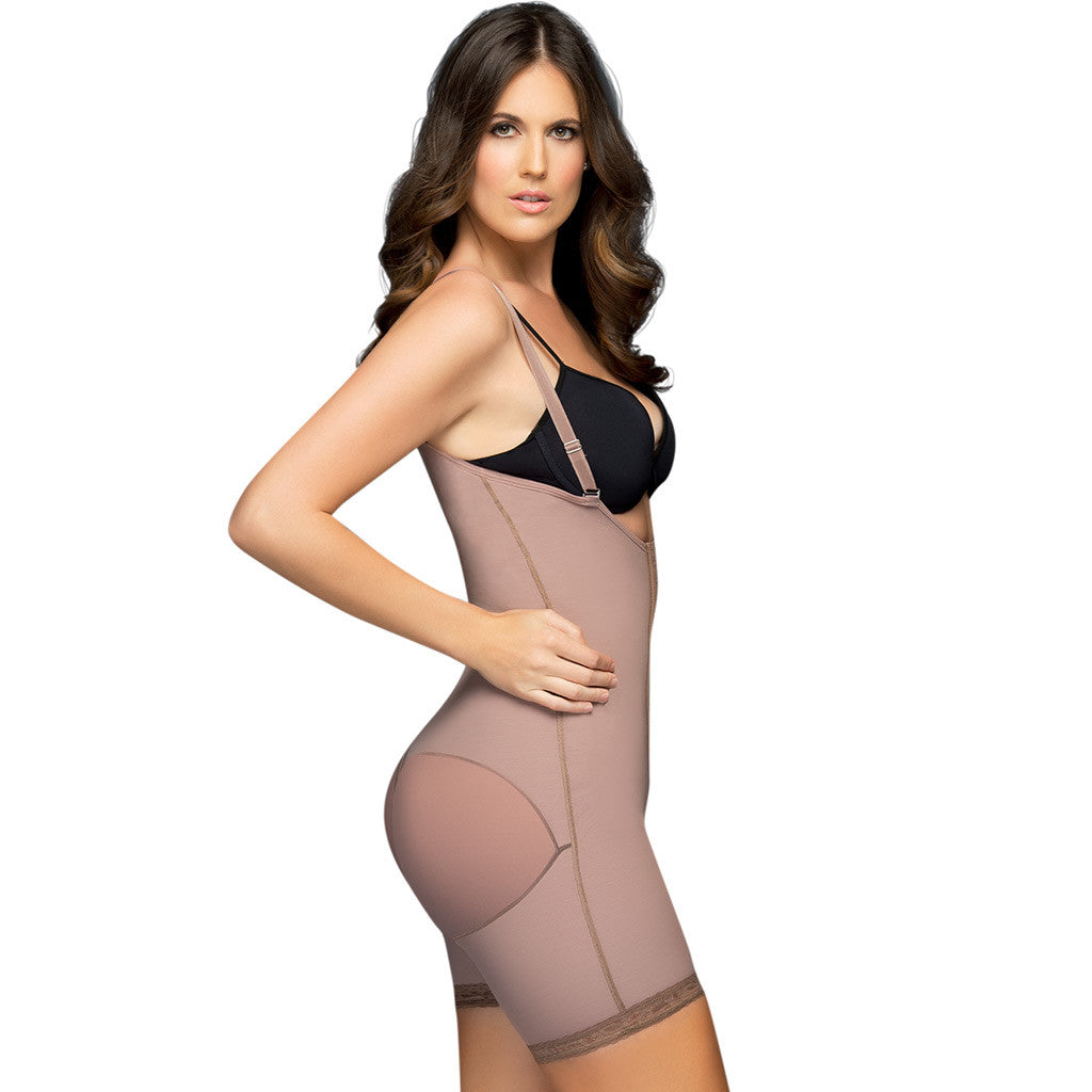 D'Prada Shapewear: 111 - Removable Straps Short Faja with Hooks - Showmee Store